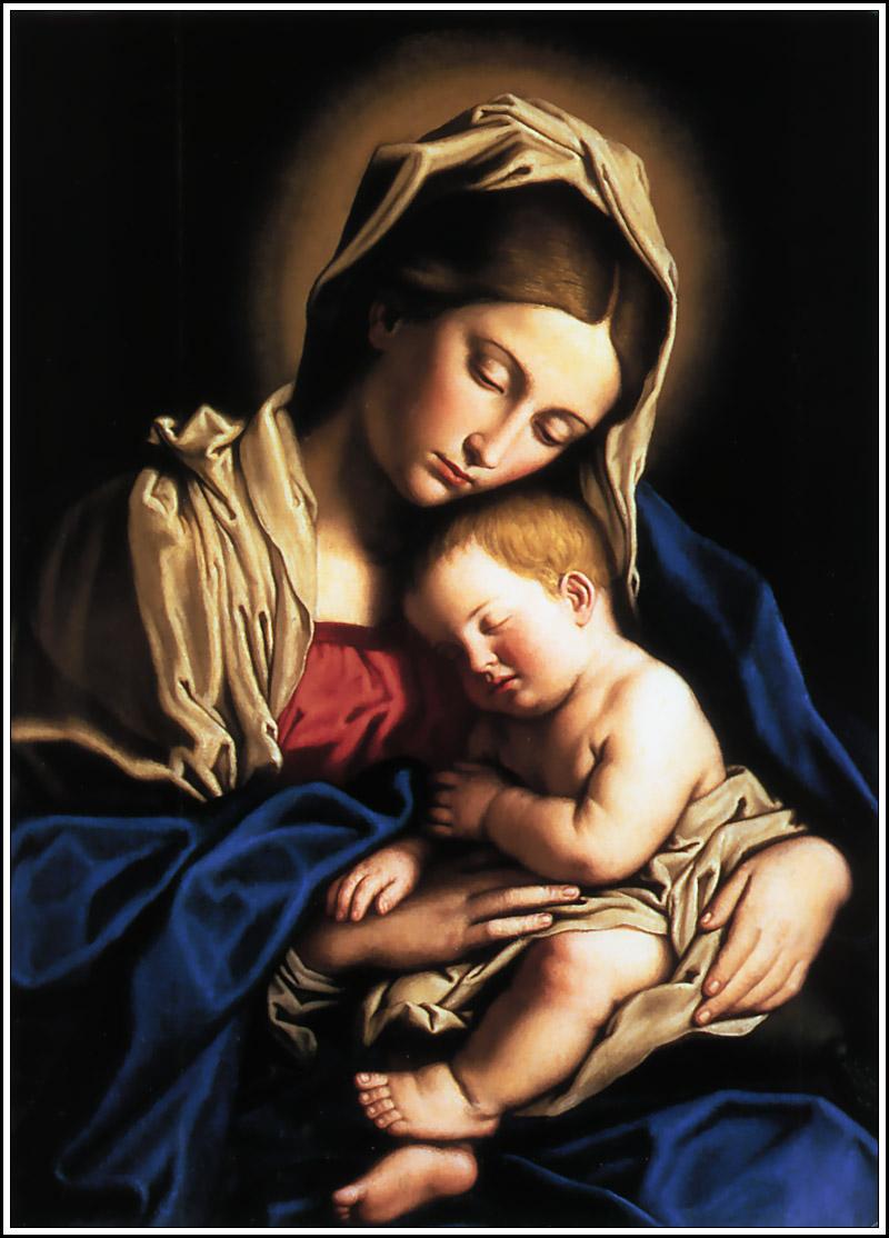 Virgin Mary dans images sacrée