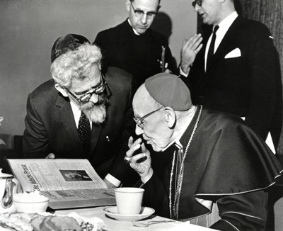 Heschel with Augustin Cardinal Bea †, the first President of the Secretariat for Promoting Christian Unity